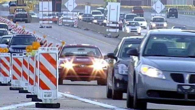 Parkway North/I-279 Lane Shift