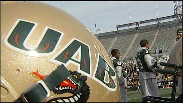 UAB football helmet
