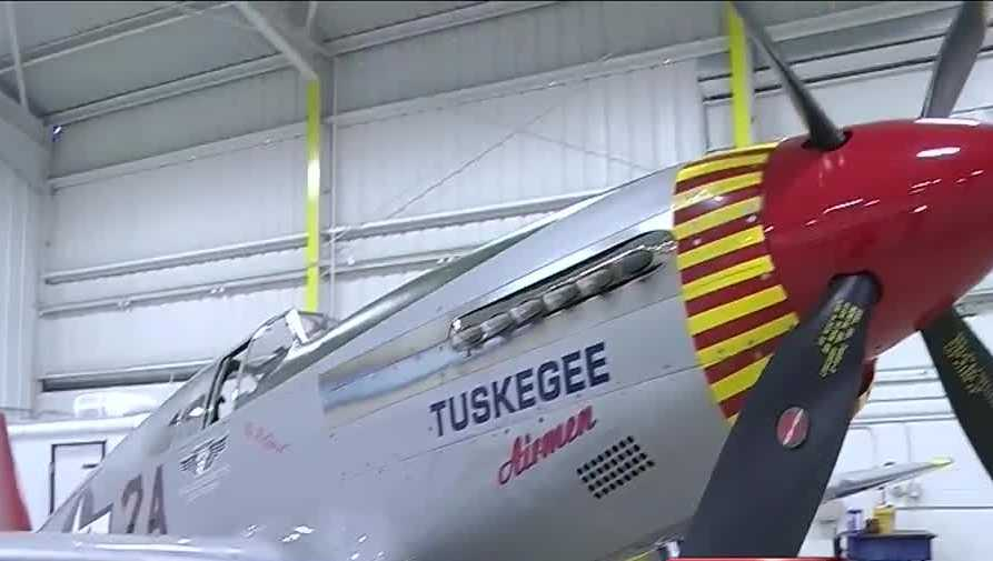 """The Protective Life National Veterans Day Parade features vintage war planes. Hear from the pilot of the \""""Red Tail\"""" flown by the Tuskegee Airmen during World War II."""