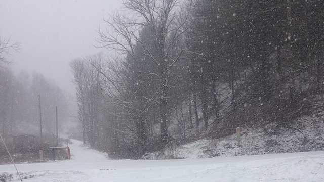 Wednesday snow in Lansing, north of Jefferson in Ashe County