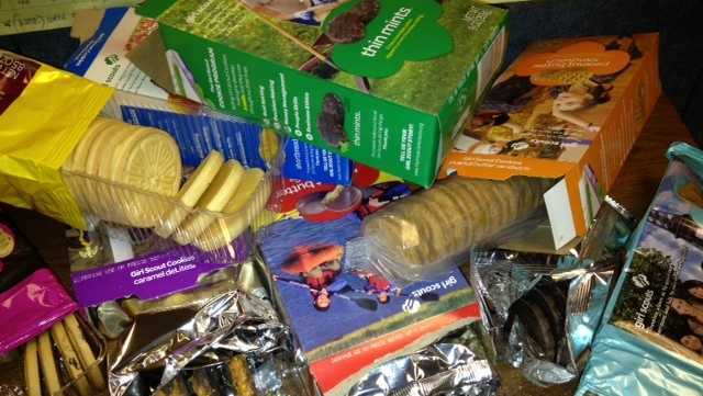 Girl Scout Cookie Time has arrived!