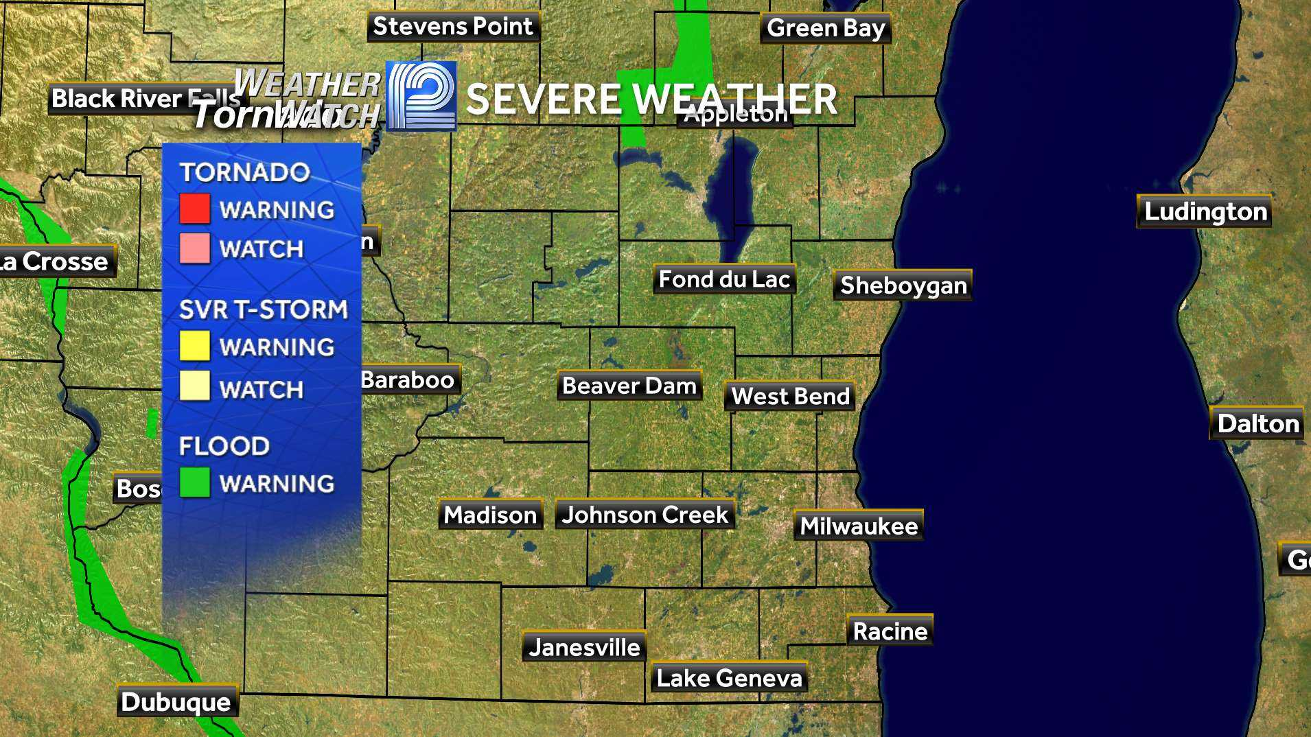 SE Wisconsin Watches & Warnings