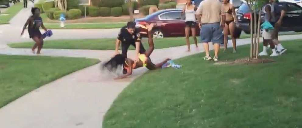 A McKinney, Texas, police officer was placed on administrative leave after video surface of him tossing a teen girl to the ground June 5, 2015.