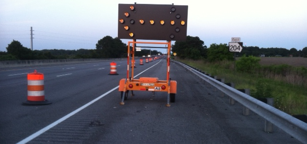 Road work continues on Georgia Highway 204.