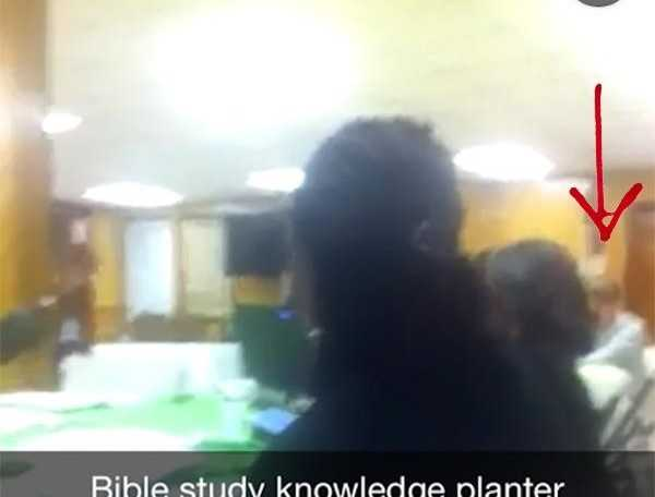 This Snapchat photo purports to have been taken at the Bible study before shooting began. (Snapchat)
