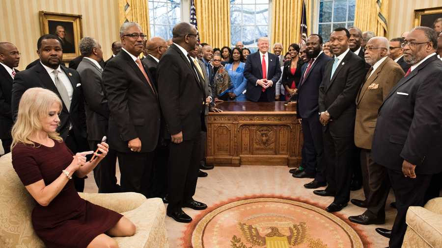 Kellyanne Conway at Oval Office