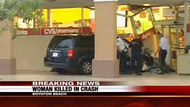 minivan crashes into cvs woman killed
