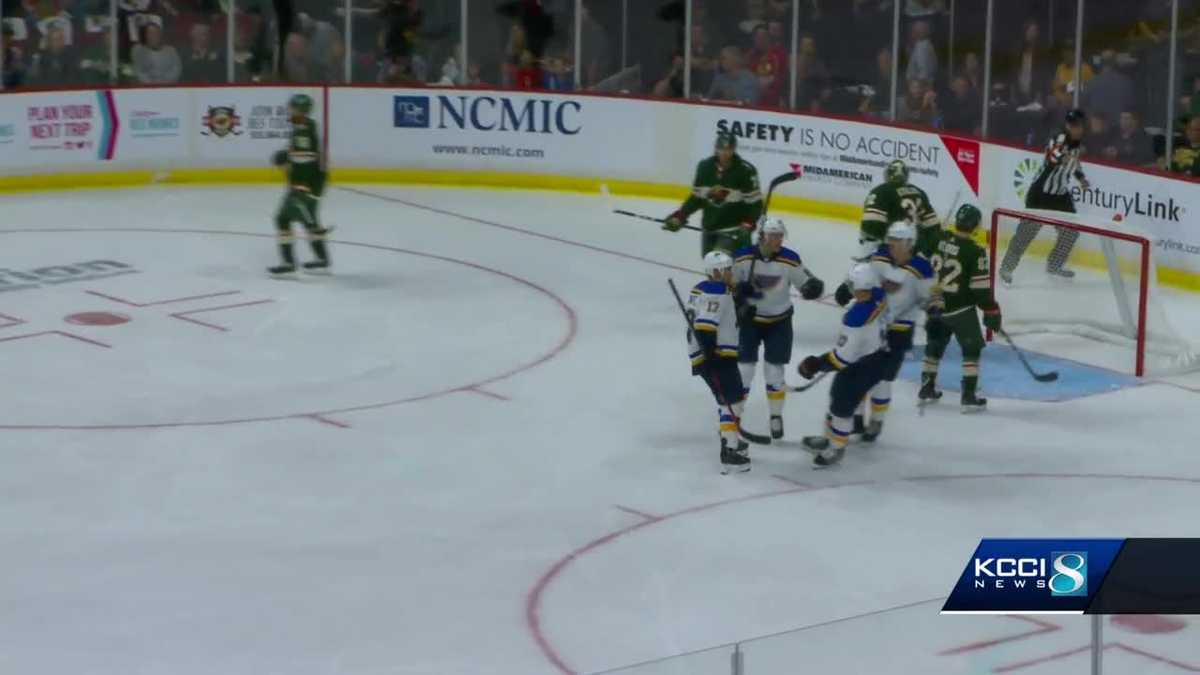 Blues beat Wild in Des Moines' first NHL game