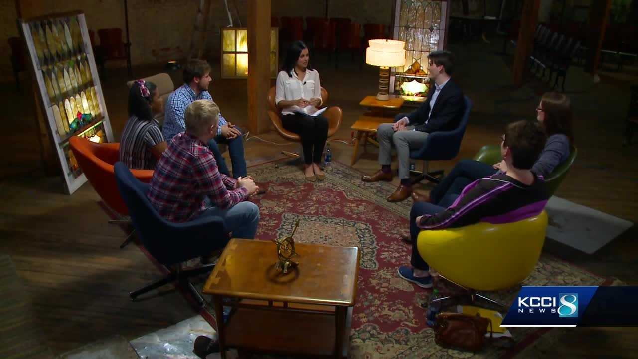 Iowans with opposing views in gun debate talk with KCCI's Shaina Humphries in eye-opening discussion