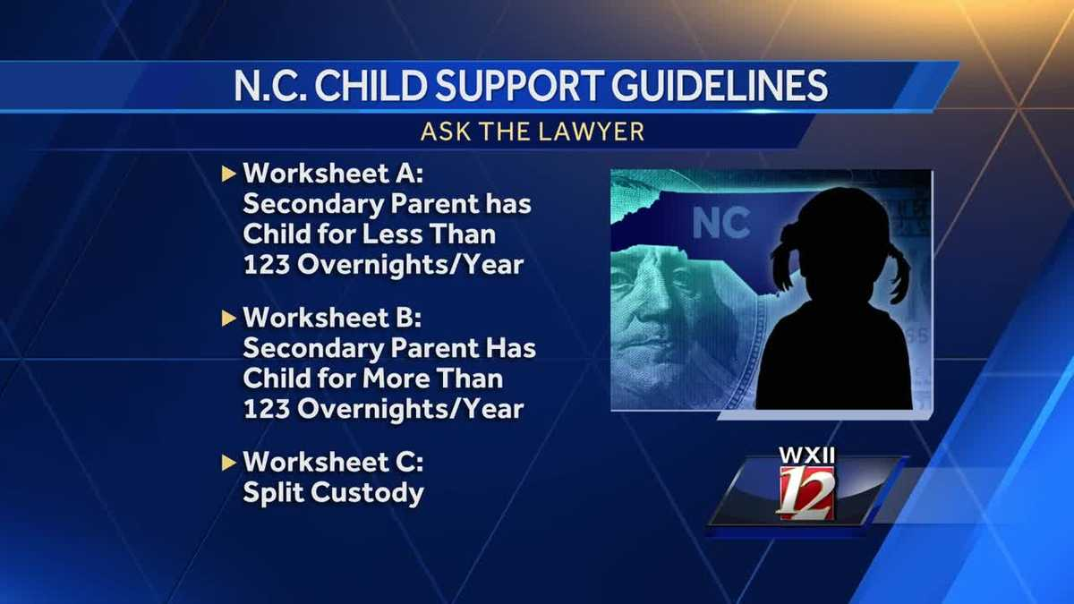 worksheet Nc Child Support Worksheet B child support guidelines