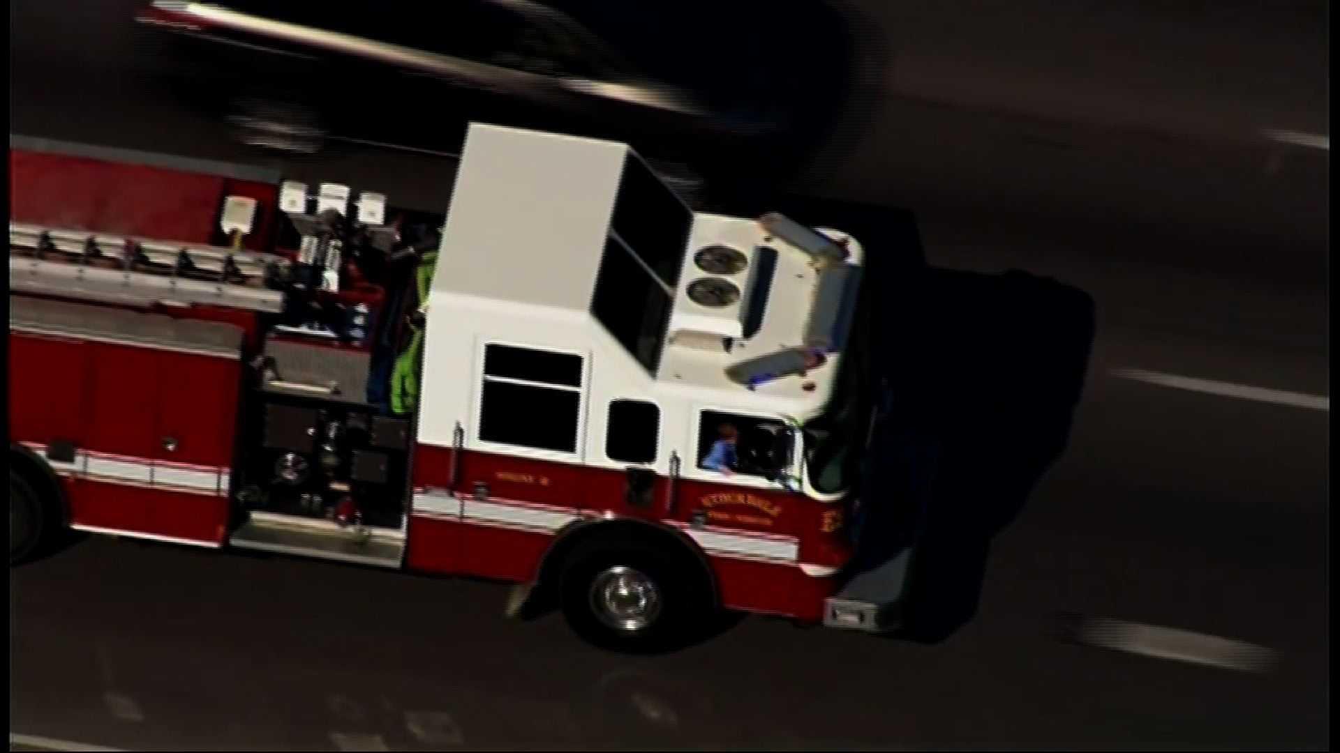 Texas church shooting victim, 5, leaves hospital on fire truck