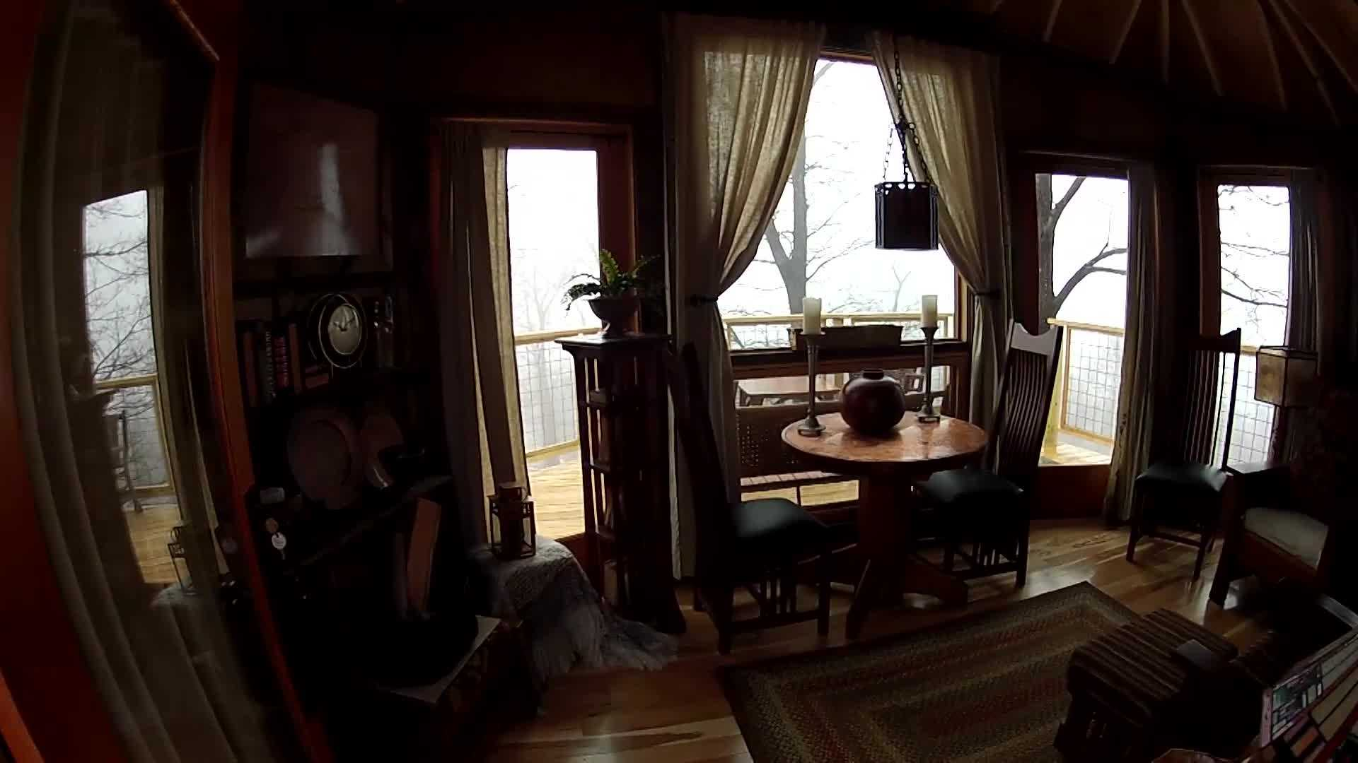 go inside treehouse bungalow at summit inn resort - Treehouse Masters Interior