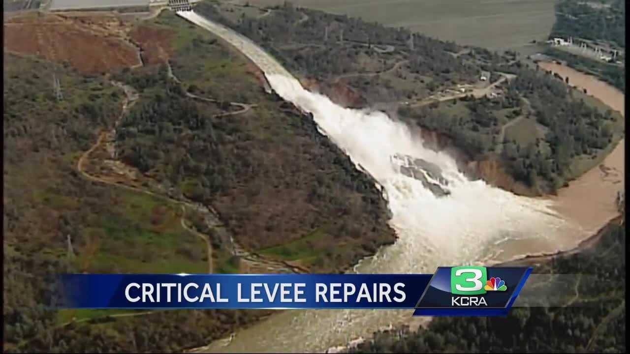 Crews start emergency repairs downstream of Oroville Dam - Modesto