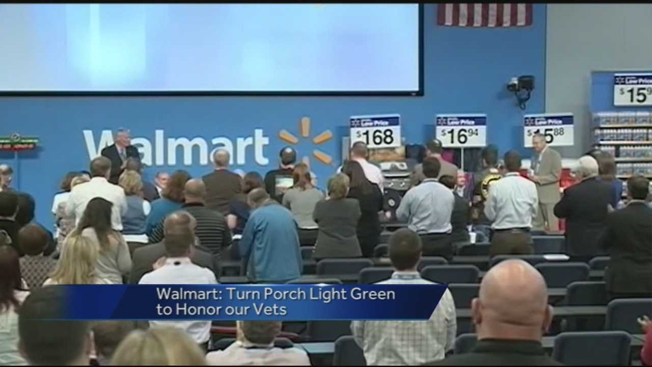 walmart announces green light campaign to help veterans
