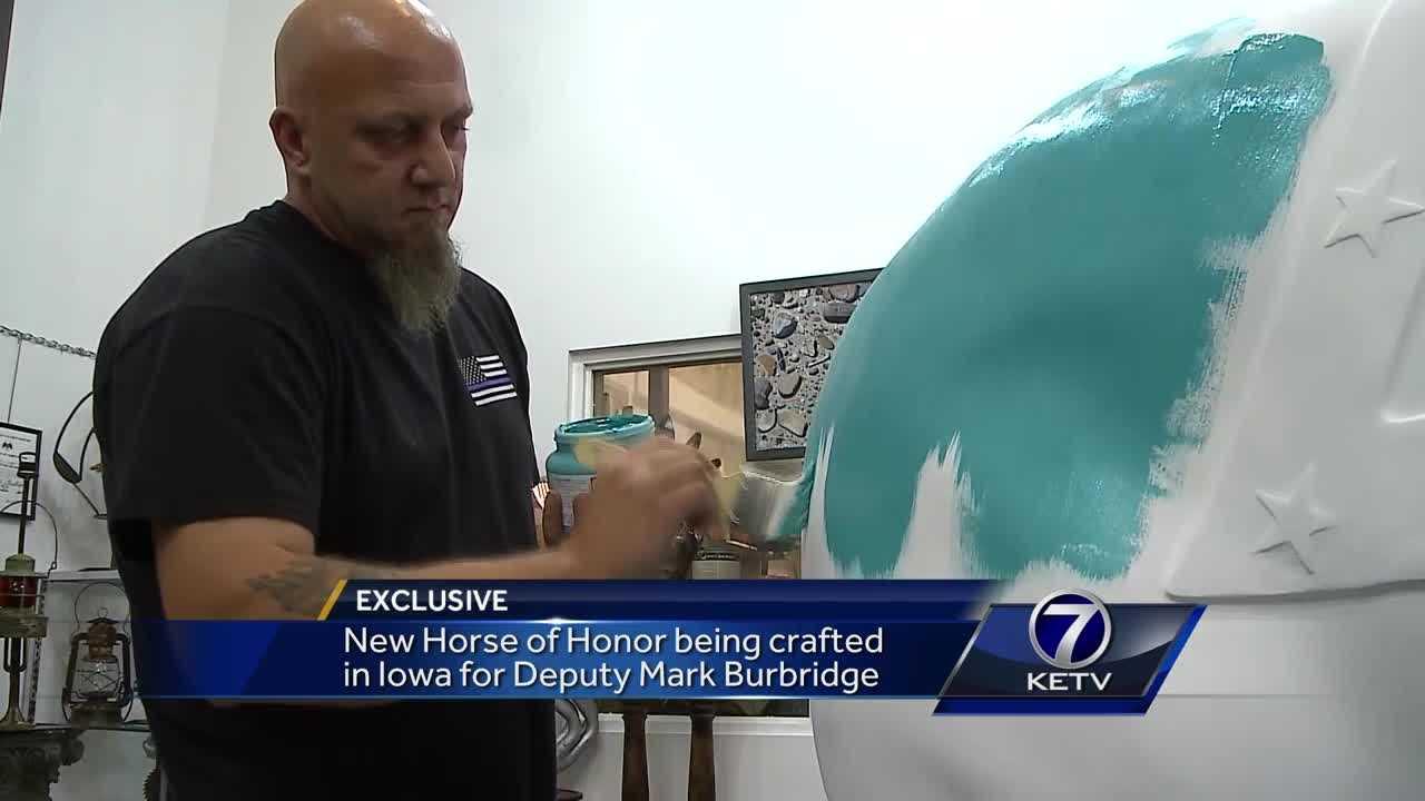 New Horse of Honor being crafted in Iowa for Dep. Mark Burbridge - Omaha news - NewsLocker