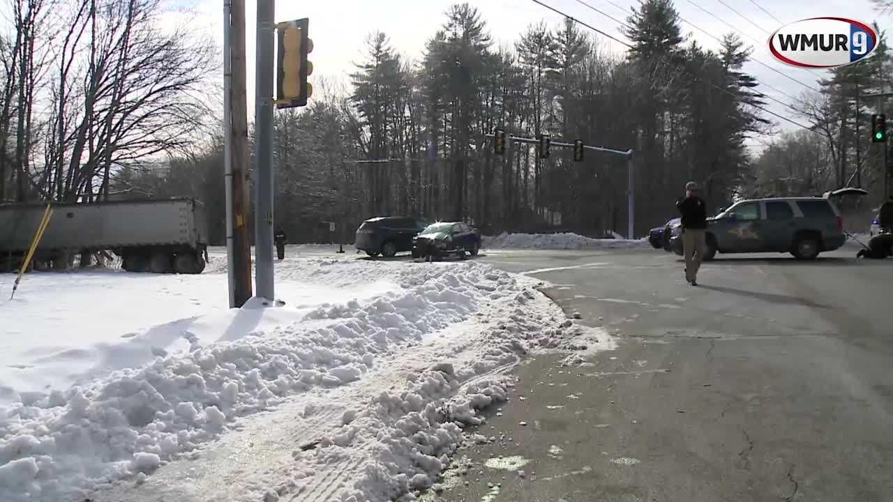 Raw video: Scene of Route 4 crash in Durham - New Hampshire