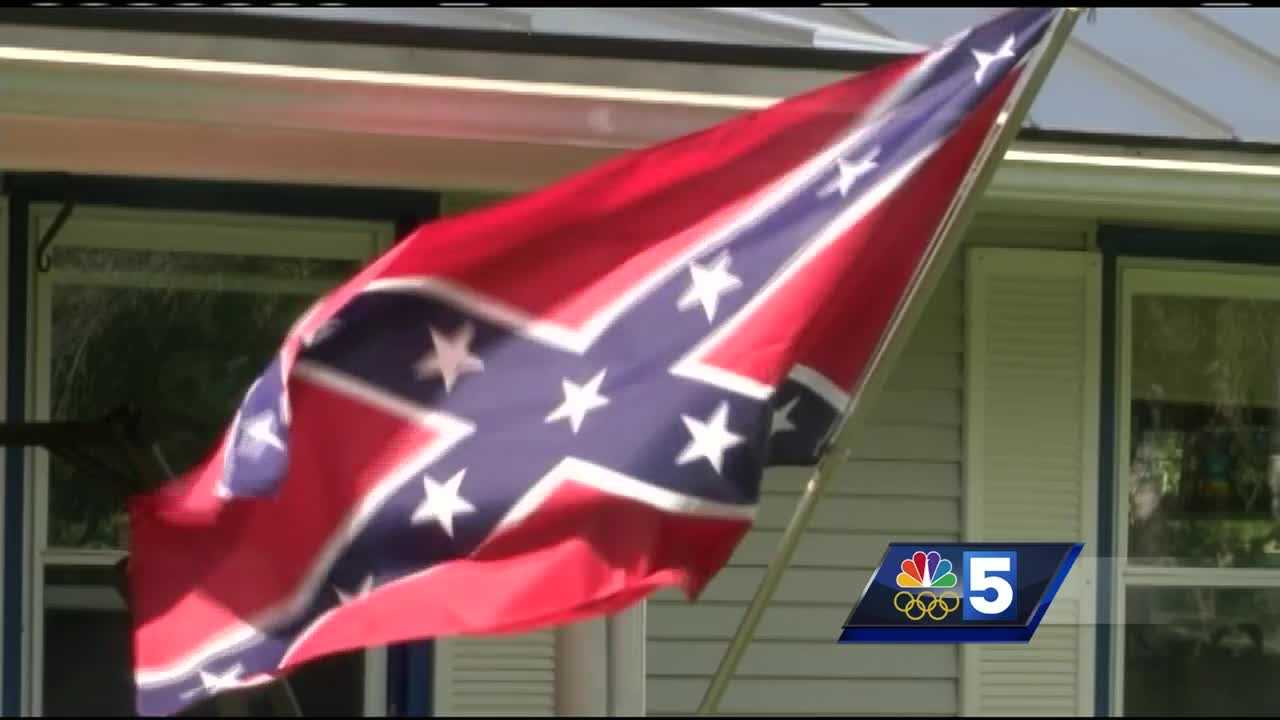 Neighbors speak out against Confederate flag in Montpelier