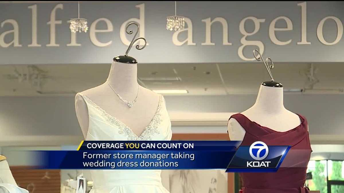 Former Alfred Angelo store manager collecting wedding dress ...