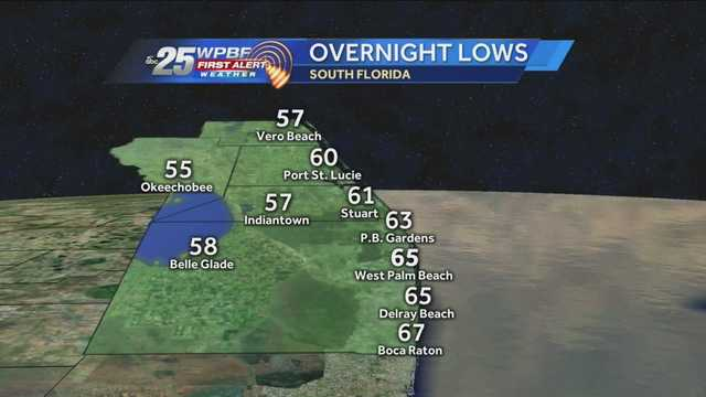 Cooler weather arrives in South Florida