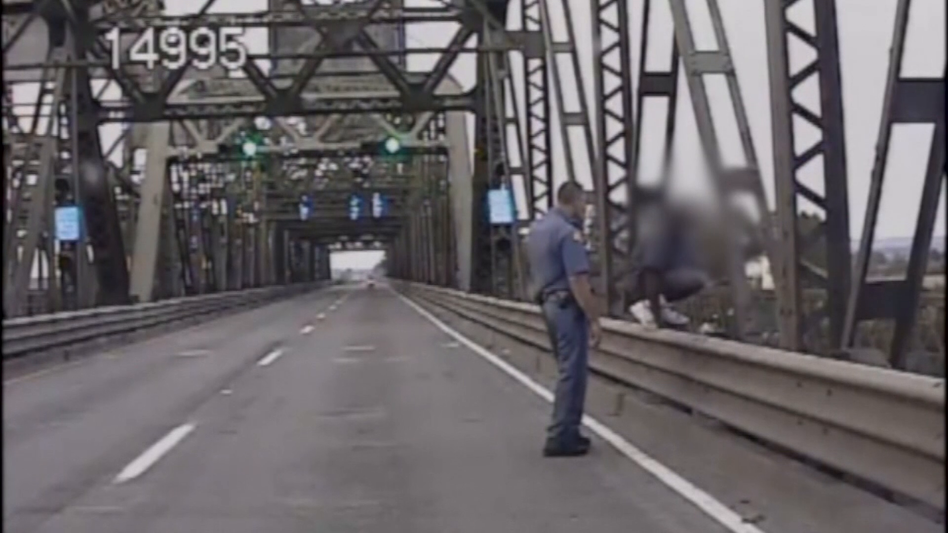 Dramatic video shows heroic state trooper save man from jumping off bridge