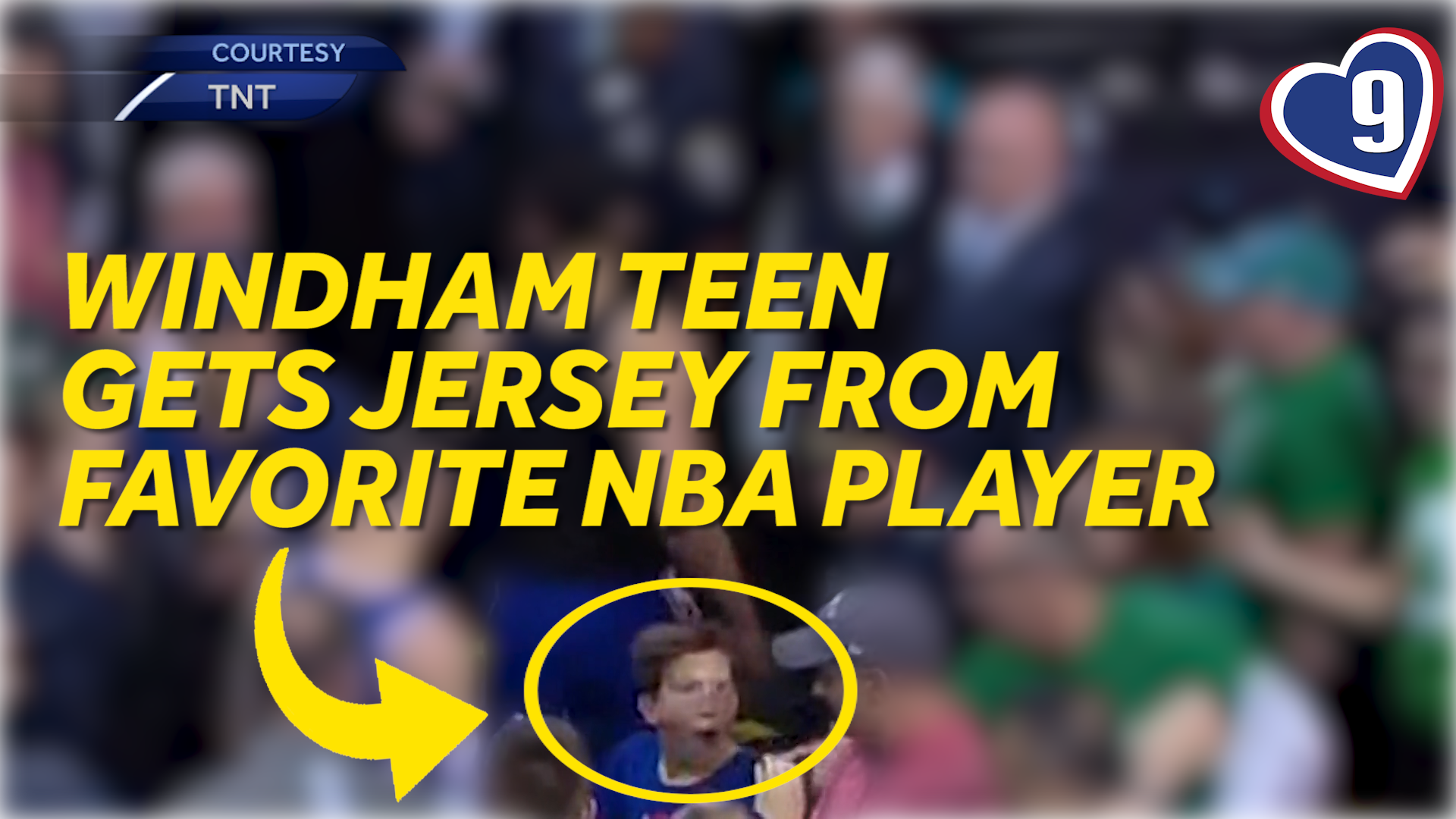 9 Loves: Windham teen receives jersey from favorite basketball player