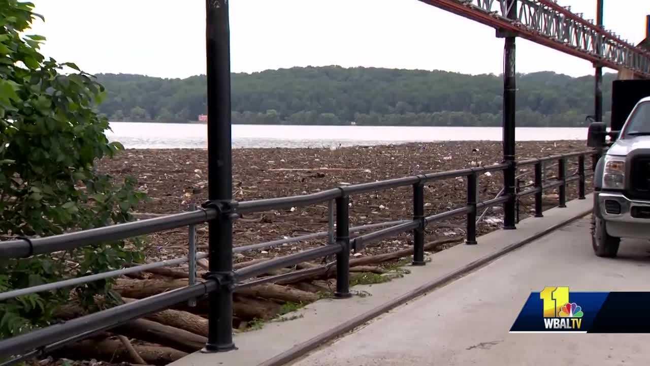 Steady rainfall delivers debris to Conowingo Dam