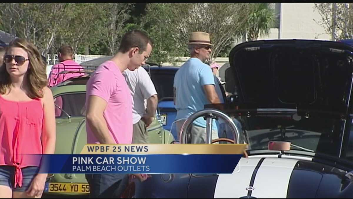 Car Show Goes Pink For Breast Cancer Awareness - Car show palm beach outlets