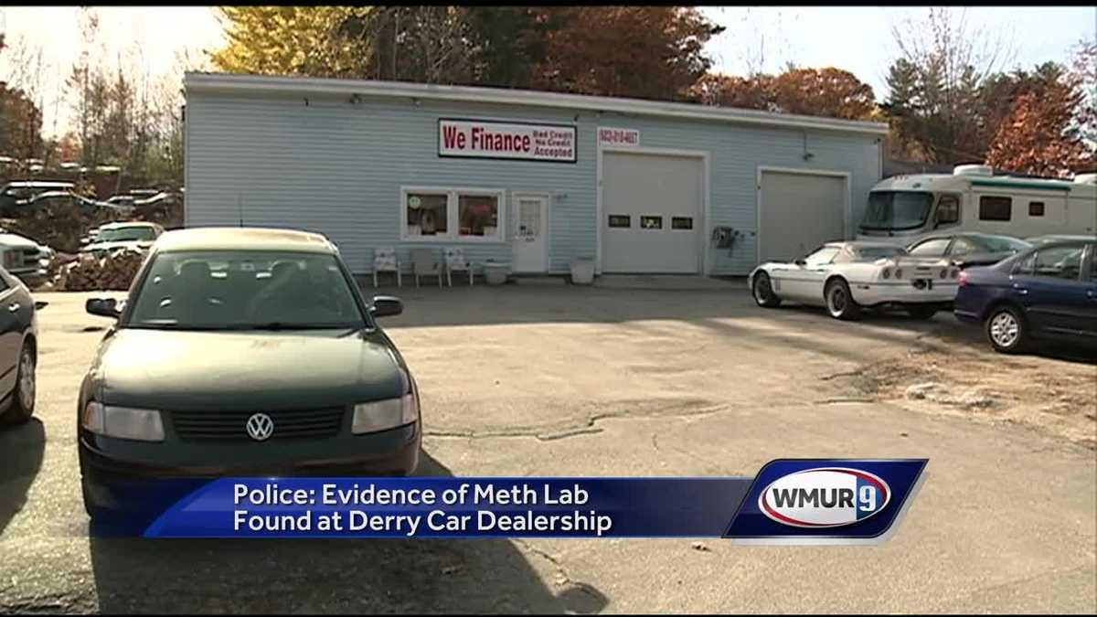 Meth lab found at Derry auto dealership, police say