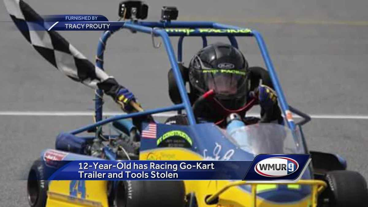 Go-kart, trailer belonging to 12-year-old stolen