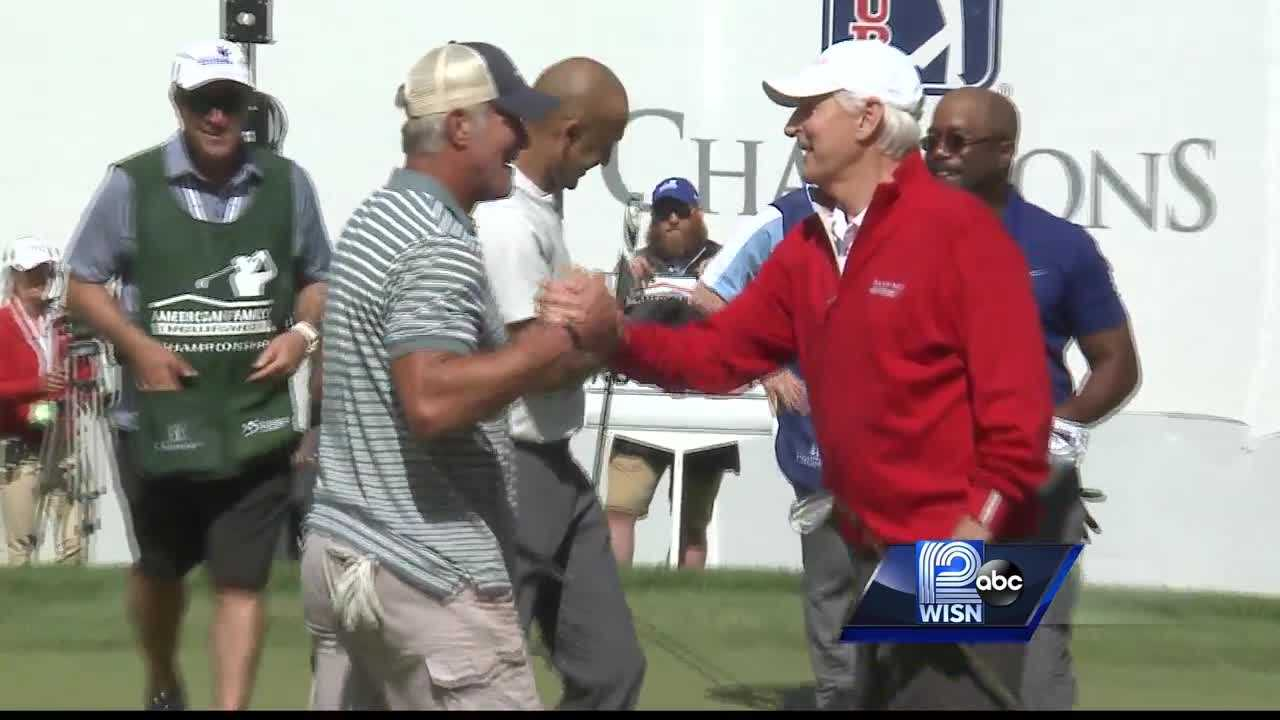 Favre's Foursome: Jeter, North, Rucker join Brett Favre on the golf course for a good cause