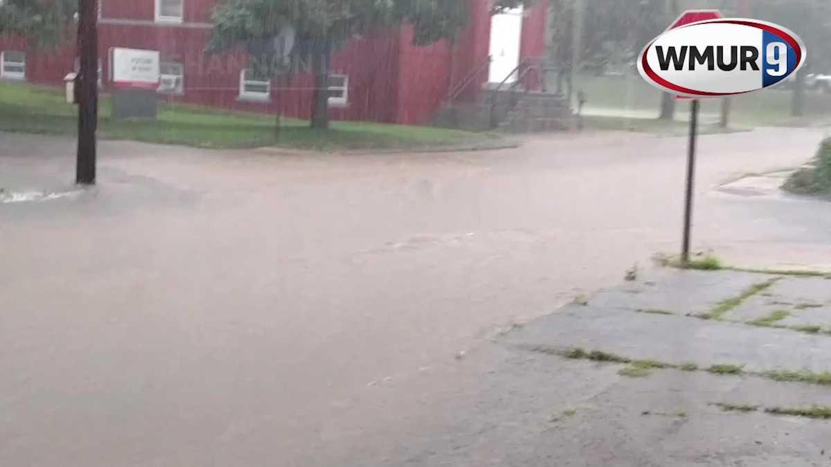 WMUR: Raw: Flooding on Walker Street in Concord