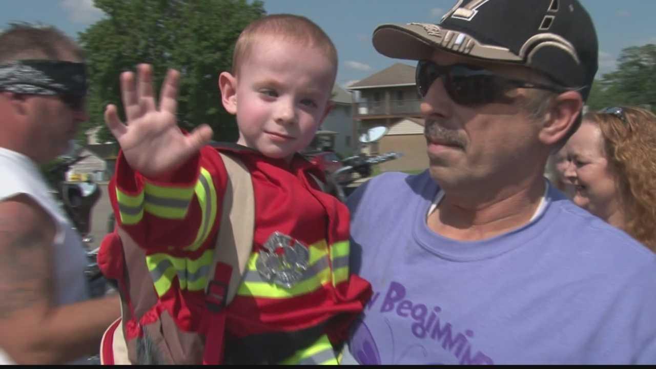 Washington Township fire department honors local boy's wish
