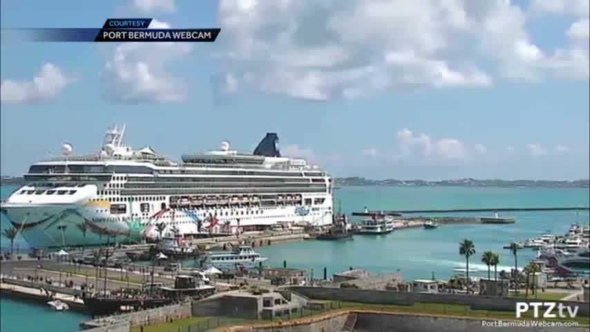 Video Shows Norwegian Cruise Ship That Ran Aground In Port In Bermuda