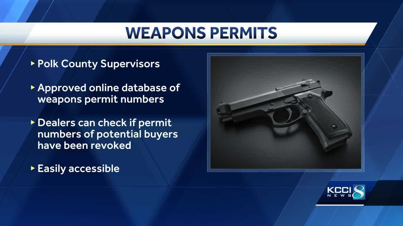 Polk County Supervisors put weapons database in place