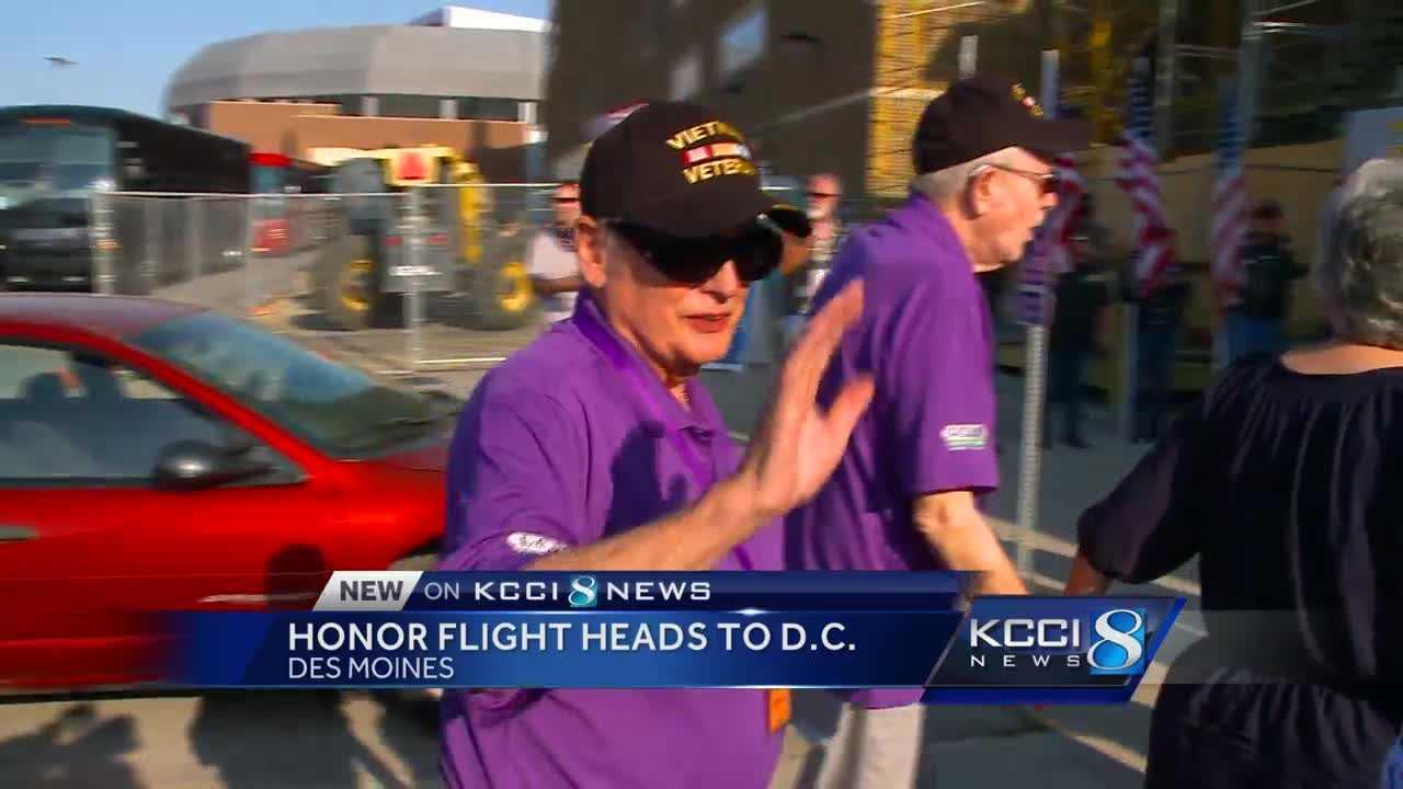 Vietnam Veterans Welcomed On Latest Honor Flight - My flight to des moines