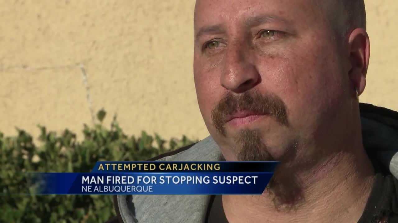 man thwarts carjacking gets fired