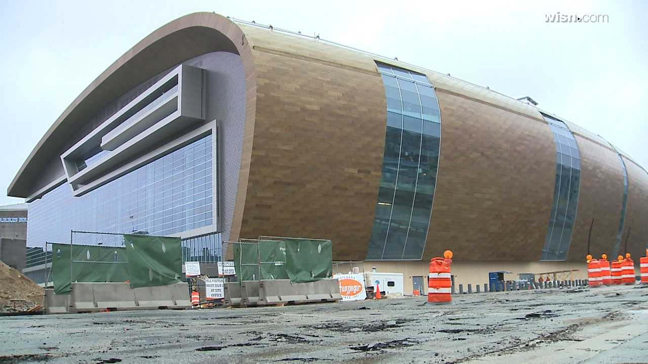 Milwaukee Bucks President Peter Feigin on April 3, 2018 said the new Bucks arena was 90 percent complete.